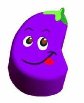 eggplant cushion